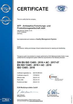 AFP ISO 13485 EN